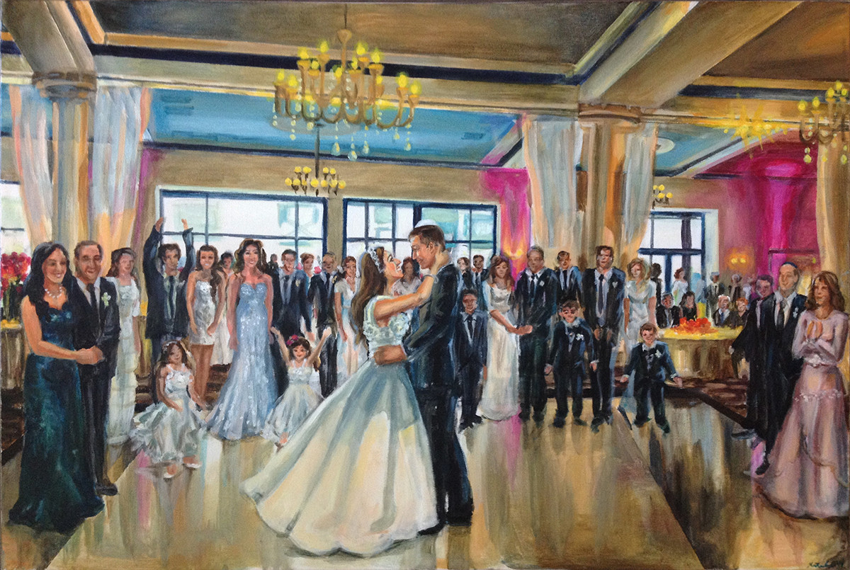 "First dance at Vie, Philadelphia , 24"" x 36,"" based on multiple photos"