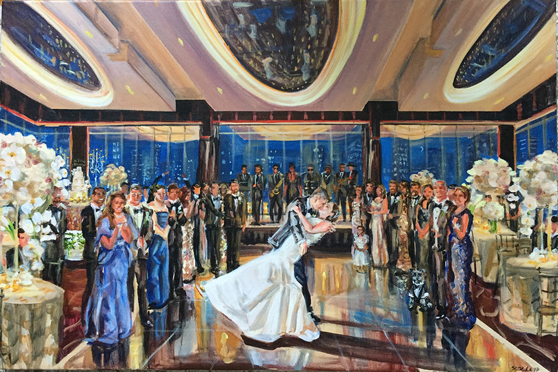 """First dance at the Mandarin Oriental, NYC, 20"""" x 30,"""" based on multiple photos"""