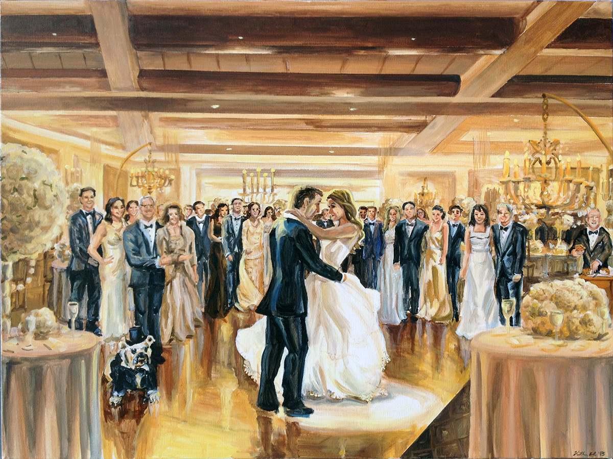 "First dance painting based on multiple photos, 30"" x 40"""