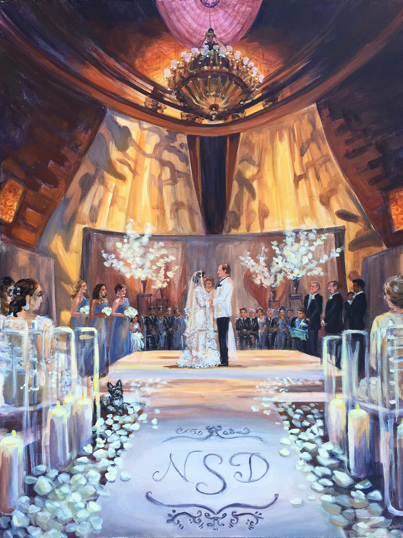 "Ceremony at Gotham Hall, NYC, 30"" x 40,"" based on multiple photos"