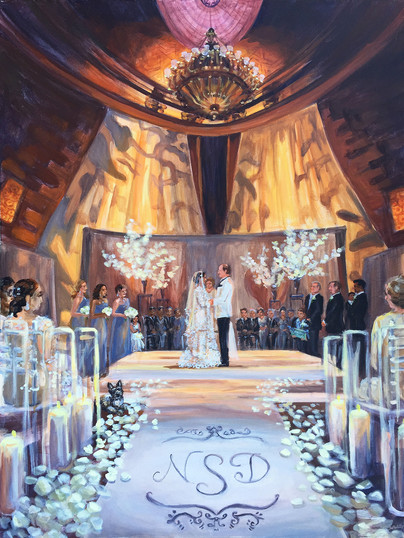 "Ceremony at Gotham Hall, NYC, 30"" x 40,"" based on multiple photos"