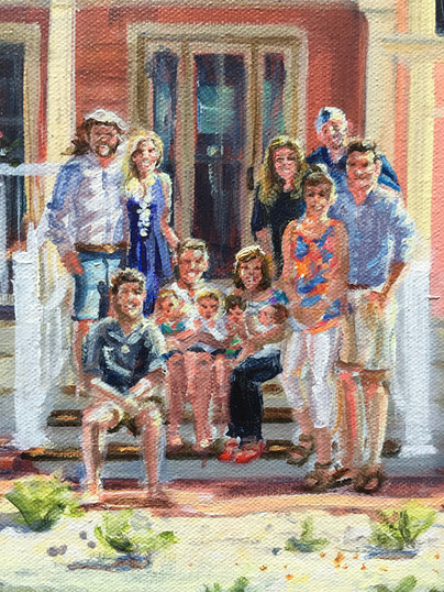 Detail, family at vacation home