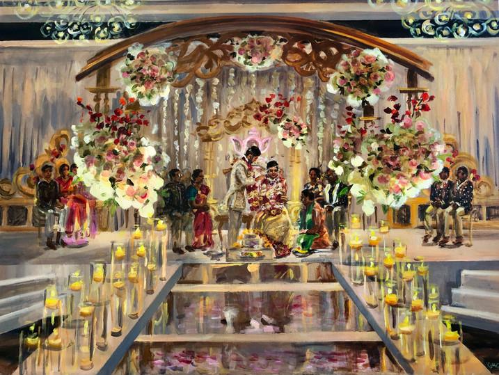 "Traditional Indian ceremony, Hyatt Rochester, NY, 30"" x 40"""