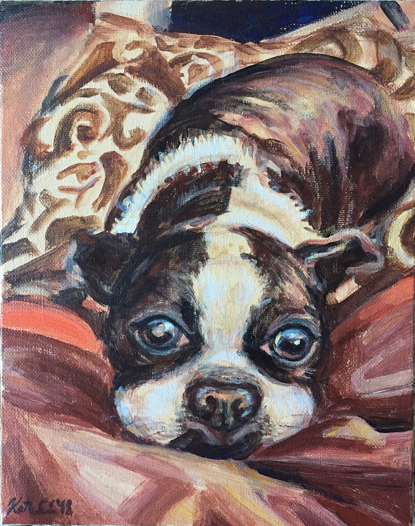 "Pet portrait, 5"" x 7"""