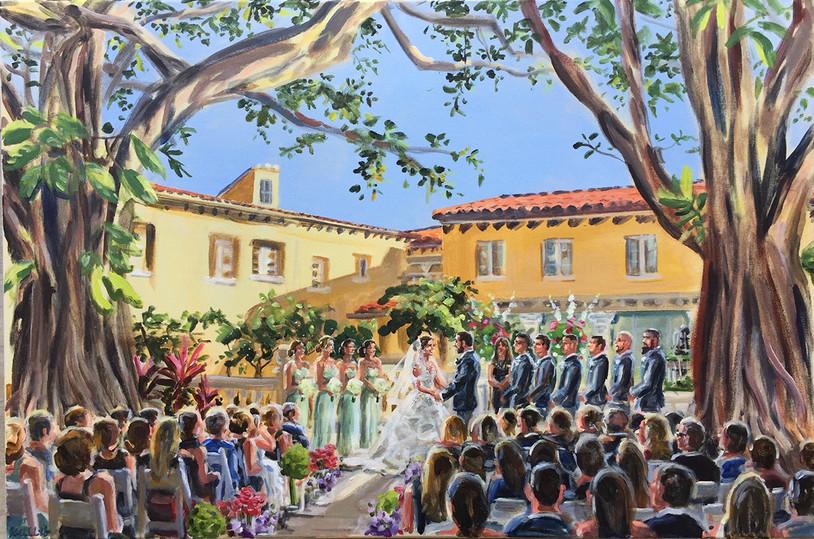 Florida outdoor ceremony