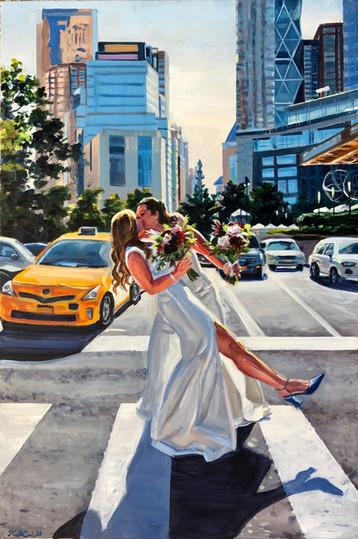 """Manhattan wedding portrait, 20"""" x 30"""""""