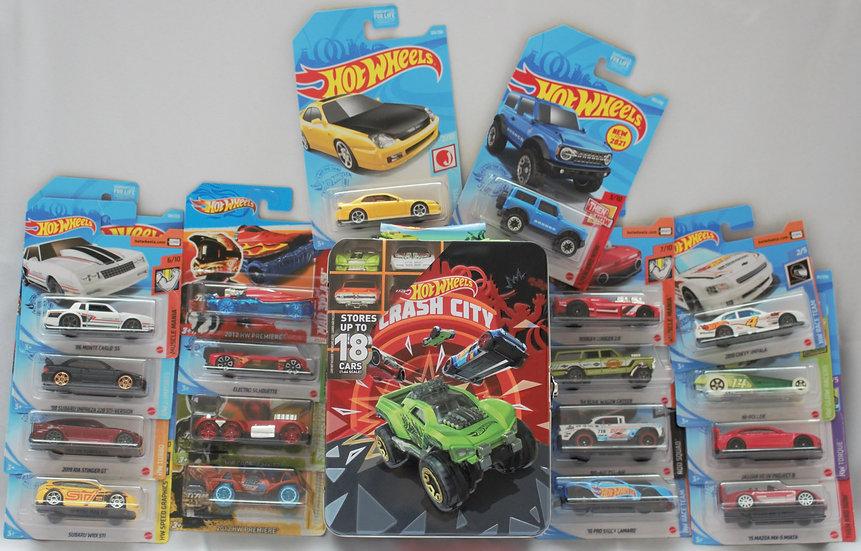 Metal Storage Case - Crash City + 18 Cars