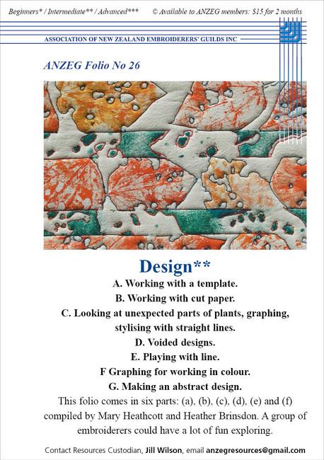 ANZEG Folios26: Design
