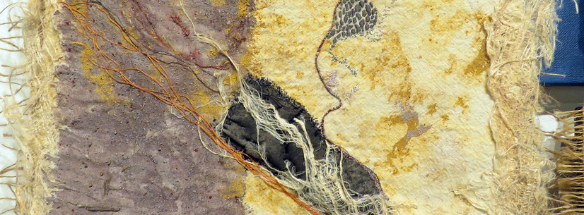 Detail from Coromandel Embroiderers' Guild Extensions Group's piece, Elemental.