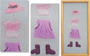 PRETTY IN PINK by Isla Maclean, age 9. New Plymouth Guild.