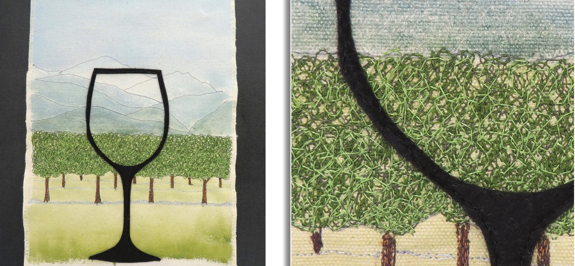 MARLBOROUGH IN A GLASS by Glenys Fry, Marlborough Guild.