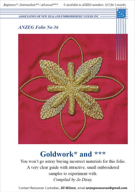 ANZEG Folios36: Goldwork, or nue