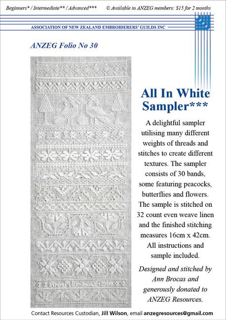 ANZEG Folios30: All In White Sampler