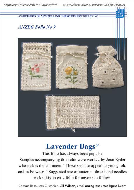 ANZEG Folios9: Lavender bags