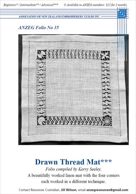ANZEG Folios35: Drawn thread mat