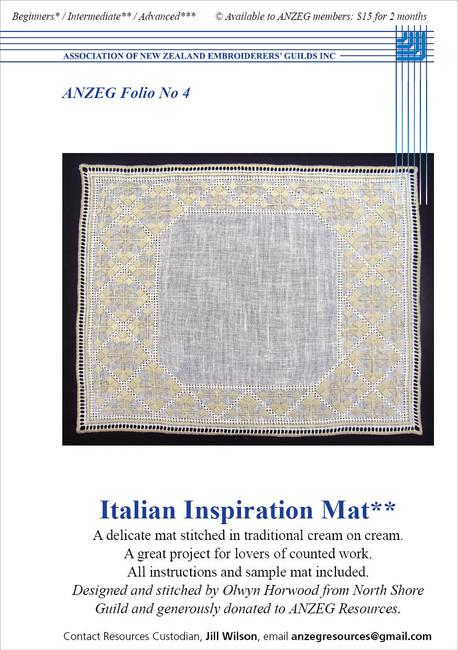 ANZEG Folios4: Italian Inspiration Mat