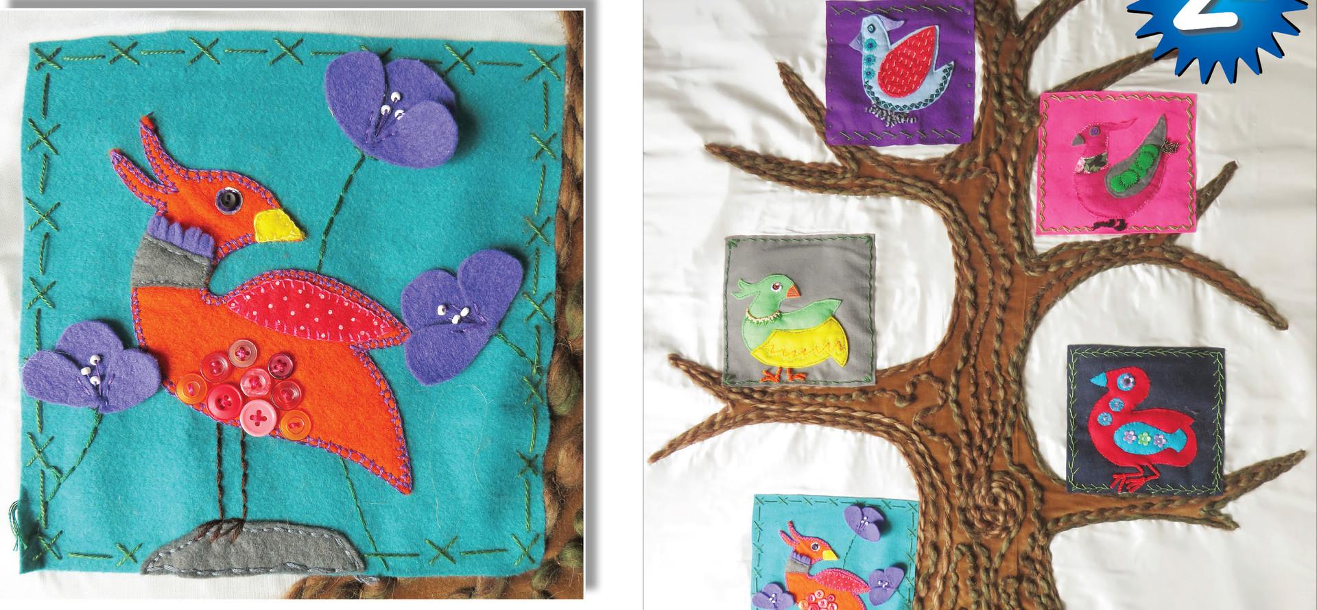 2nd: HAPPY BIRD-DAY by South Taranaki Junior Stitchers.