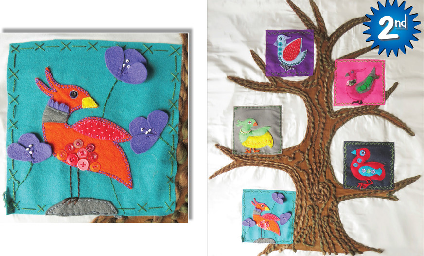 2nd: HAPPY BIRD-DAY by South Taranaki Junior Stitchers.