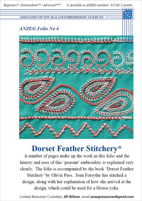ANZEG Folios6: Dorset feather.