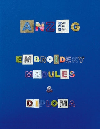 ©ANZEG Embroidery Modules & Diploma cover