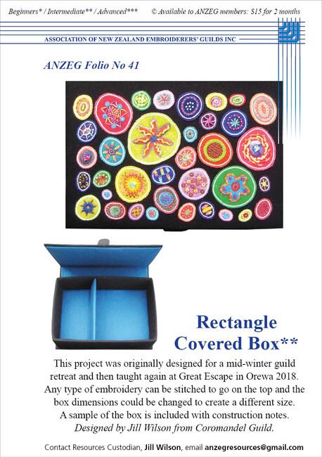 ANZEG Folios41: Making a covered box