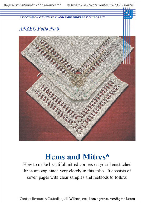 ANZEG Folios: Hems and mitres