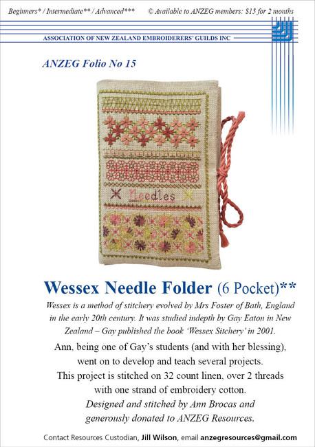 ANZEG Folios15: Wessex needle folder