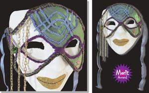 Merit: MASKED MYSTERY by Stefanie Haisman, age 10. South Taranaki Guild.