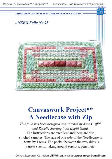 ANZEG Folios25: Canvaswork needlecase