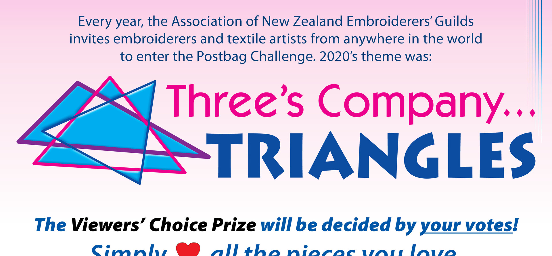 ANZEG Postbag Challenge 2020: Three's Company...Triangles