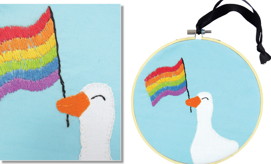 PRIDE GOOSE by Keryn Parkin, 14. (Lower Hutt).