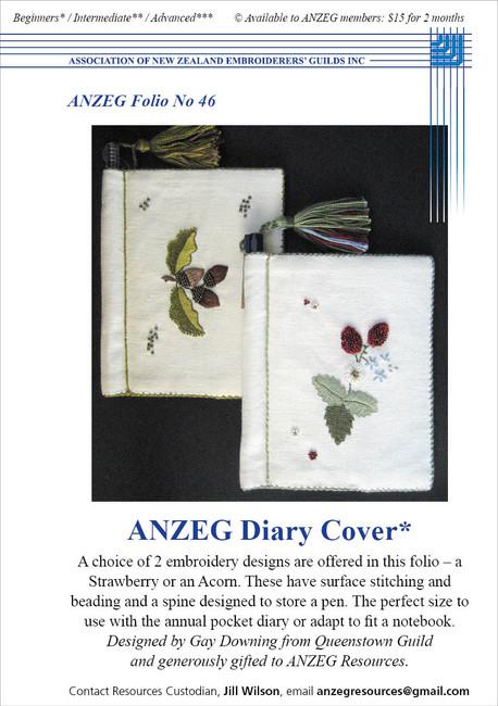 ANZEG Folios46: ANZEG Diary Cover