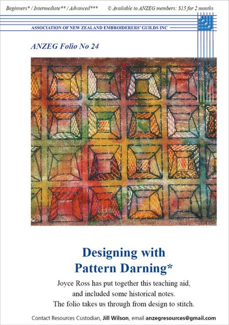 ANZEG Folios24: Designing with pattern darning