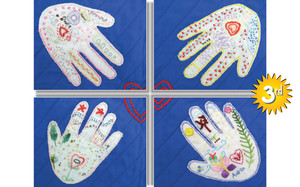 3rd: IMAGINE: HANDS OF KINDNESS by Little Sew'N'Sews Juniors, Auckland.