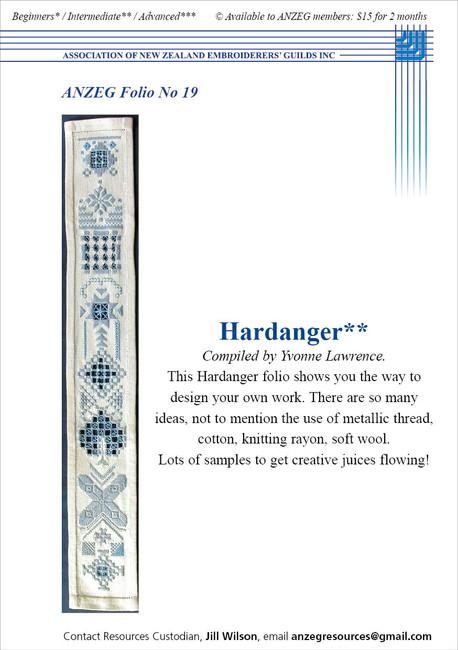 ANZEG Folios19: Hardanger