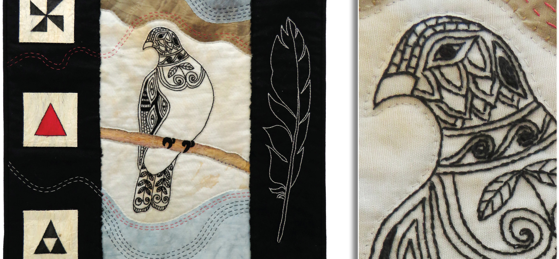 KERERU - NZ WOOD PIGEON by Pauline Shilton, Tauranga Guild.