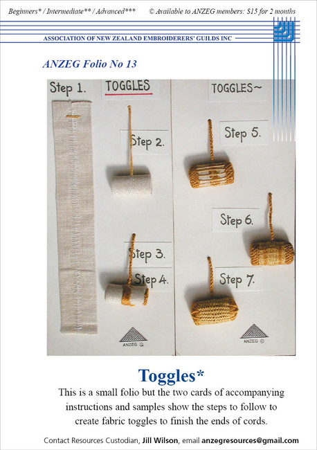 ANZEG Folios13: Toggles