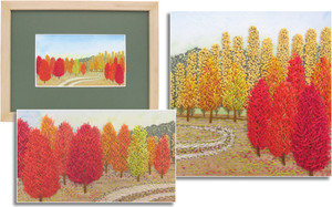 MAPLE GROVE by Shirley Pygott, Warkworth Guild.