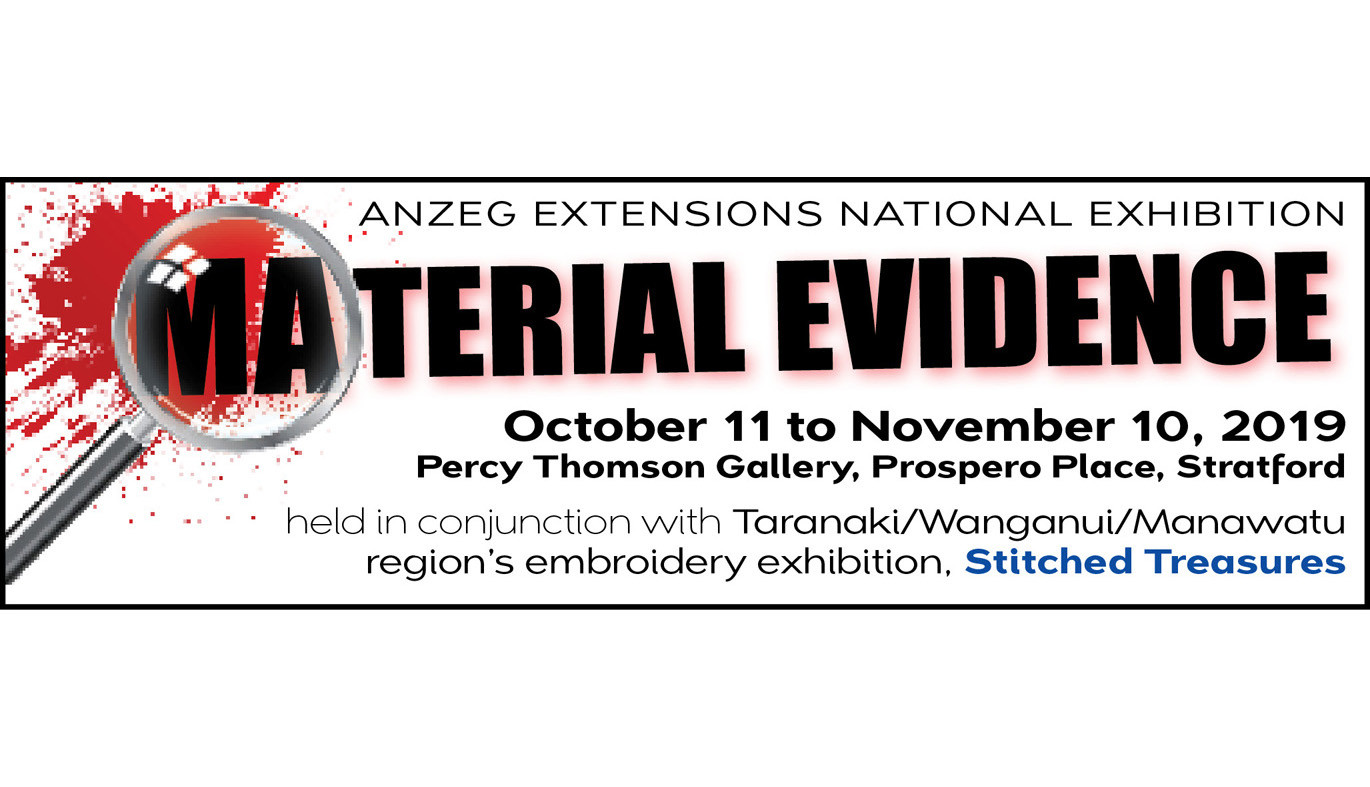 ANZEG Extensions national exhibition, Material Evidence.