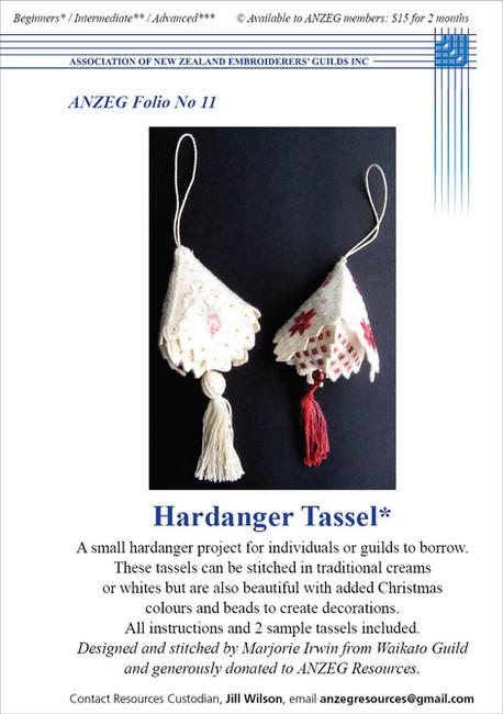 ANZEG Folios11: Hardanger tassels