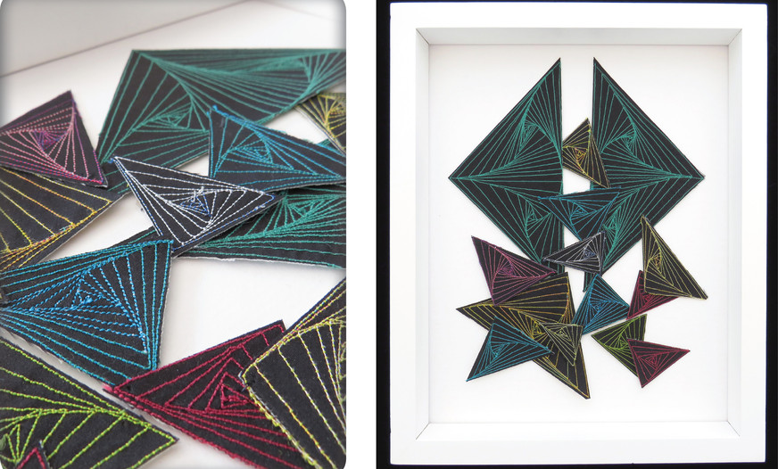 ©TRIANGLE SPIRALS by Jo Ann Ingram, Bay of Plenty.