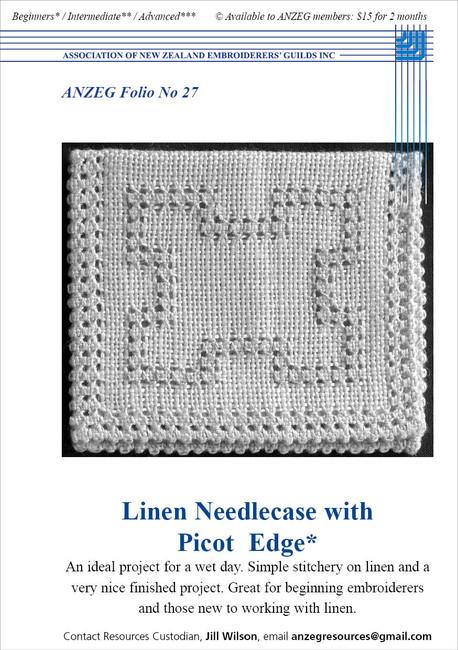 ANZEG Folios27: Linen needlecase