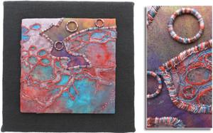 ABSTRACT: LITTLE GRAINS OF SAND by Caroline Strachan, Upper Hutt Guild.
