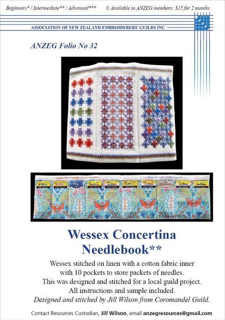 ANZEG Folios32: Wessex needlebook