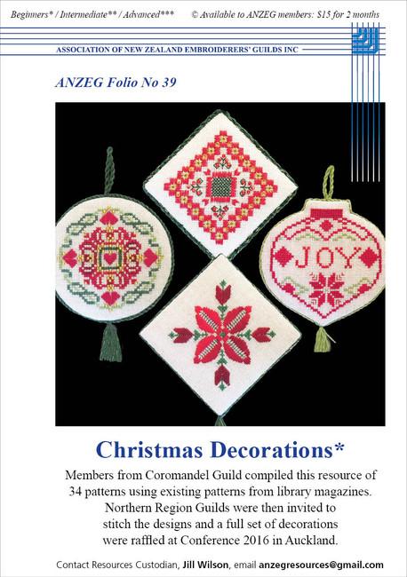 ANZEG Folios39: Christmas decorations