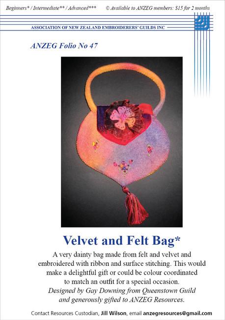 ANZEG Folios47: Velvet and felt bag