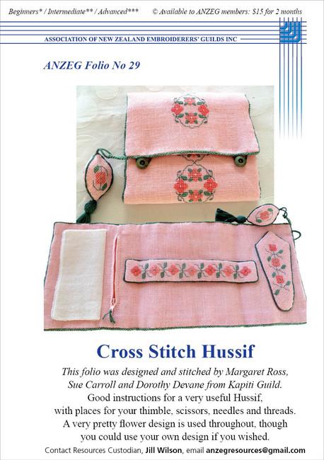 ANZEG Folios29: Cross stitch hussif