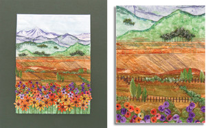COUNTRYSIDE OR WASTE LAND? by Shirley Pygott, Warkworth Guild.