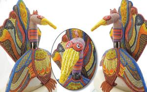 WINNER: RING NECKED VASE BIRD by Dawn Nicholl, Whangarei Guild.