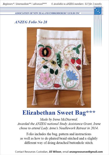 ANZEG Folios28: Elizabethan Sweet Bag
